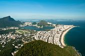 stock photo of ipanema  - Aerial View of Ipanema and Leblon Beach from the Mountain in Rio de Janeiro - JPG