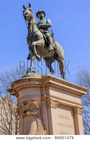 General Winfield Scott Hancock Equestrian Statue Civil War Memorial Washington Dc