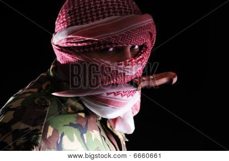 Arab man with Knife