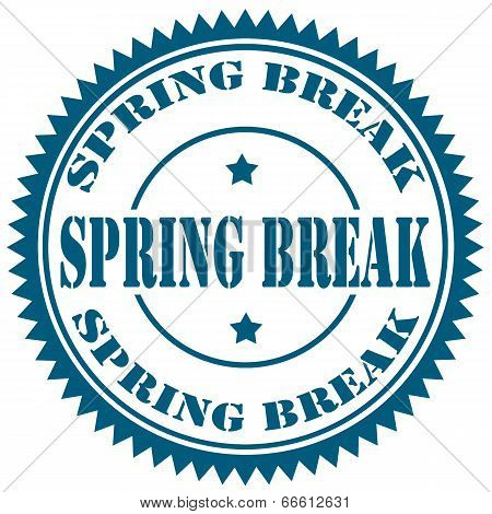 Spring Break-stamp