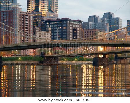 Pittsburgh River Dusk