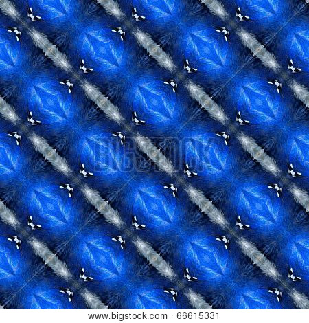 Beautiful Blue Texture Made From Blue Bird Feathers In A Great Pattern