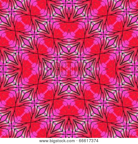 Beautiful Red And Pink Background Made From Painted Jezebel Butterfly Wings Skin Patterns