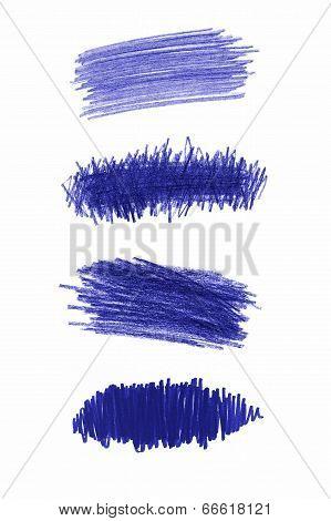 Series Of Blue Pencil Strokes