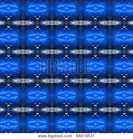 Blue Pattern Made Of Blue Bird Feathers