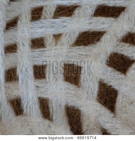 Camouflage White And Brown Background Pattern Of Zebra Fur Texture
