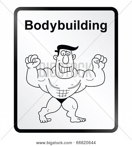 Bodybuilder Information Sign