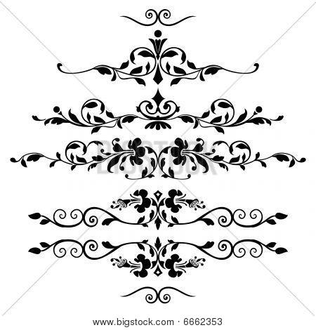 Set of floral ornaments