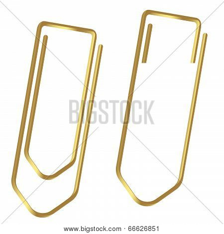 Paperclips Clamped Gold