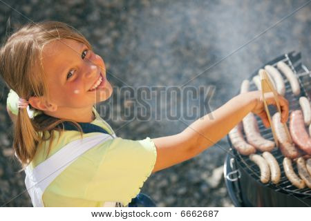 Girl doing the barbecue