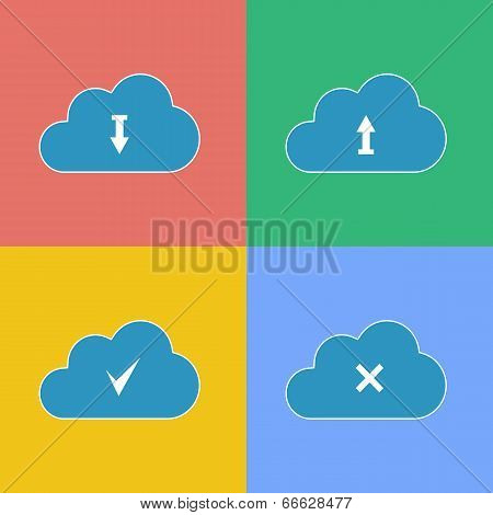 Set Cloud with Download Arrow