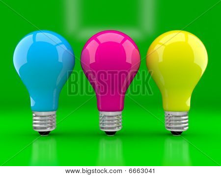 Multi-coloured Bulbs