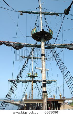 Mast On Sailing Vessel