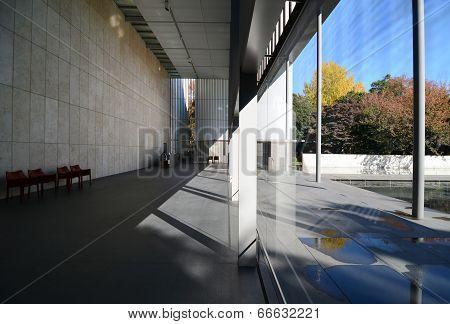 TOKYO, JAPAN - NOV 22: Interior of The Gallery of Horyuji Treasures, Tokyo, Japan