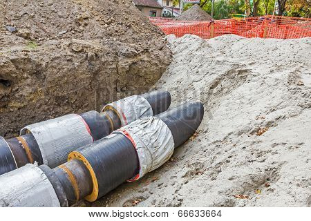 Partially Buried Pipes