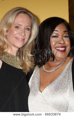 LOS ANGELES - JUN 11:  Betsy Beers, Shonda Rhimes at the Women In Film 2014 Crystal + Lucy Awards at Century Plaza Hotel on June 11, 2014 in Beverly Hills, CA