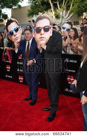LOS ANGELES - JUN 10:  Jonah Hill, Channing Tatum at the
