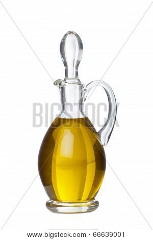 Glass Carafe With Olive Oil