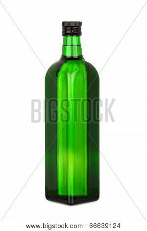 Green Glass Bottle With Rape Oil