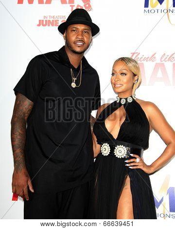 LOS ANGELES - JUN 9:  Carmelo Anthony, Lala Anthony at the