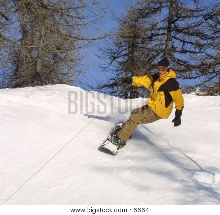 Yellow Snowboarder 2