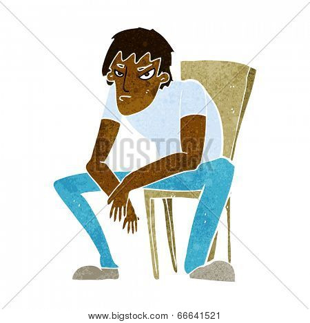 cartoon dejected man