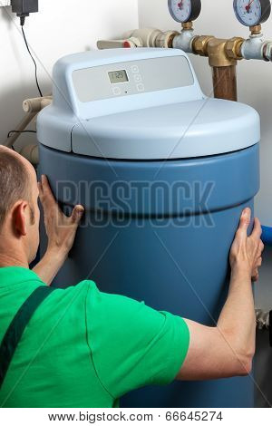 Water Softener In Boiler Room