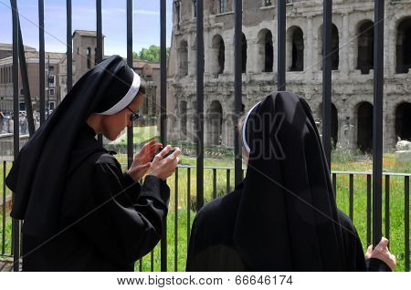 Two Nuns In Rome
