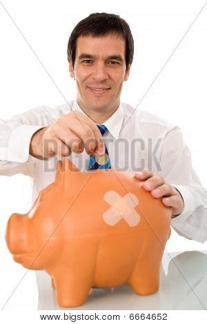 Businessman Resuming Savings
