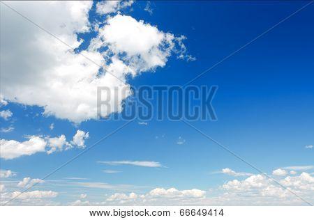 Cumulus Clouds In The Sky.