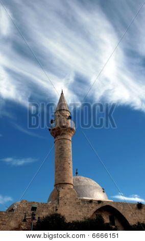 Antique mosque in old Akko
