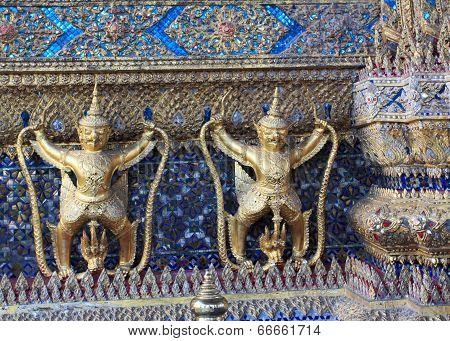 Garuda And Nagas, Bankok, Thailand