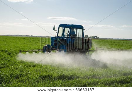 Tractor Fertilize Field Pesticide And Insecticide