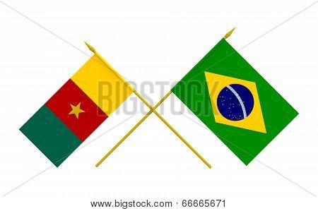 Flags, Brazil And Cameroon