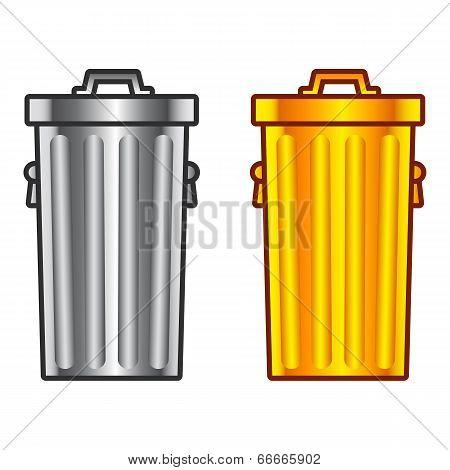 Retro dustbin