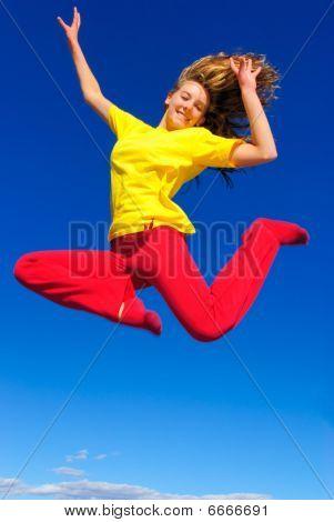 Happy jump