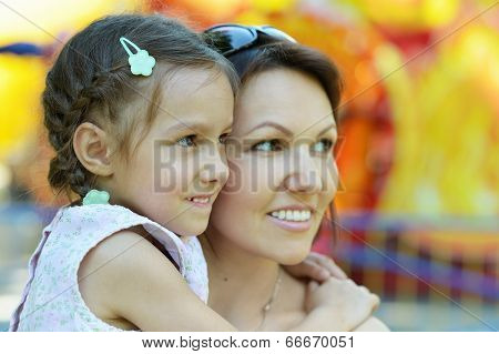 mother with her daughter