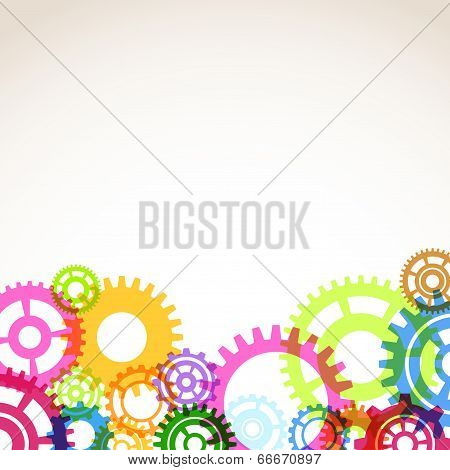 Bright Colorful Gear Mechanism Abstraction