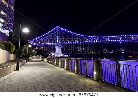 Brisbane Riverwalk and Story Bridge