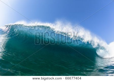 Ocean Blue Wave Swim Closeup