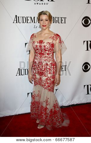 NEW YORK-JUNE 8: Actress Linda Emond attends American Theatre Wing's 68th Annual Tony Awards at Radio City Music Hall on June 8, 2014 in New York City.