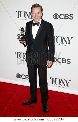 NEW YORK-JUNE 8: Actor Bryan Cranston poses in the press room at the American Theatre Wing's 68th Annual Tony Awards at Radio City Music Hall on June 8, 2014 in New York City.