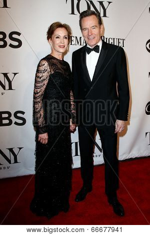 NEW YORK-JUNE 8: Actor Bryan Cranston (R) and wife Robin Dearden attend American Theatre Wing's 68th Annual Tony Awards at Radio City Music Hall on June 8, 2014 in New York City.