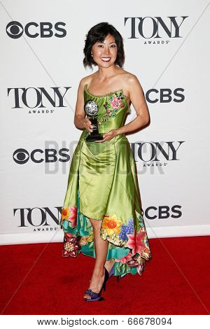 NEW YORK-JUNE 8: Costume designer Linda Cho poses in the press room at the American Theatre Wing's 68th Annual Tony Awards at Radio City Music Hall on June 8, 2014 in New York City.