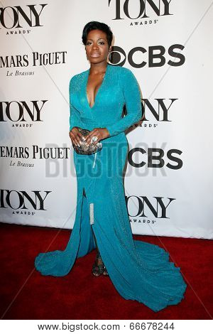 NEW YORK-JUNE 8: Actress Fantasia Barrino attends American Theatre Wing's 68th Annual Tony Awards at Radio City Music Hall on June 8, 2014 in New York City.