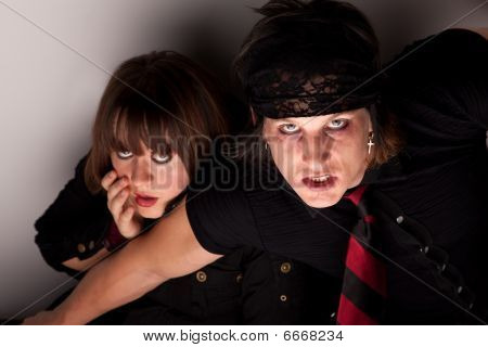 Frightened Couple