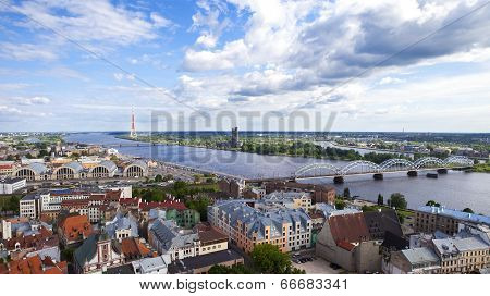 View From St. Peter's Church Tower In Riga