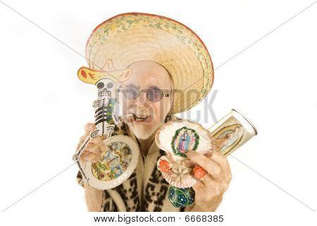 Man Selling Kitsch Tourist Items