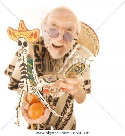 Verkauf von Kitsch touristischen Produkten Mann
