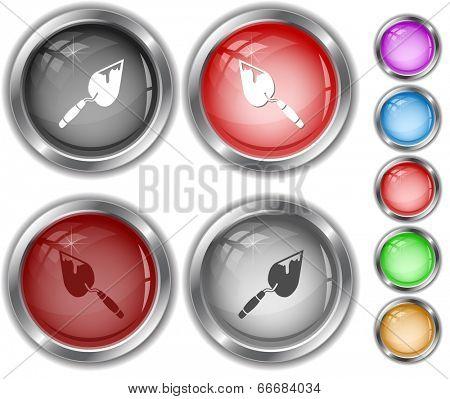 Trowel. Internet buttons.